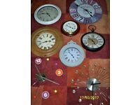 Large wall clocks of various sizes