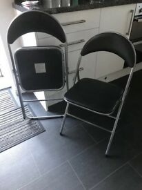 Black & silver Chairs, ideal for spares, clean n from smoke n pet free home