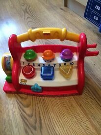 Babies educational fisher price toy numbers sounds lights