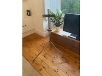 TV tripod stand - silver - excellent condition