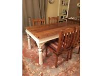Thaket dining table plus 4 chairs