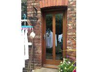Exterior mahogany double glazed door and frame