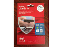 McAfee LiveSafe anti-virus software for devices, pc, laptop, mobile phone, tablet 1year subscription