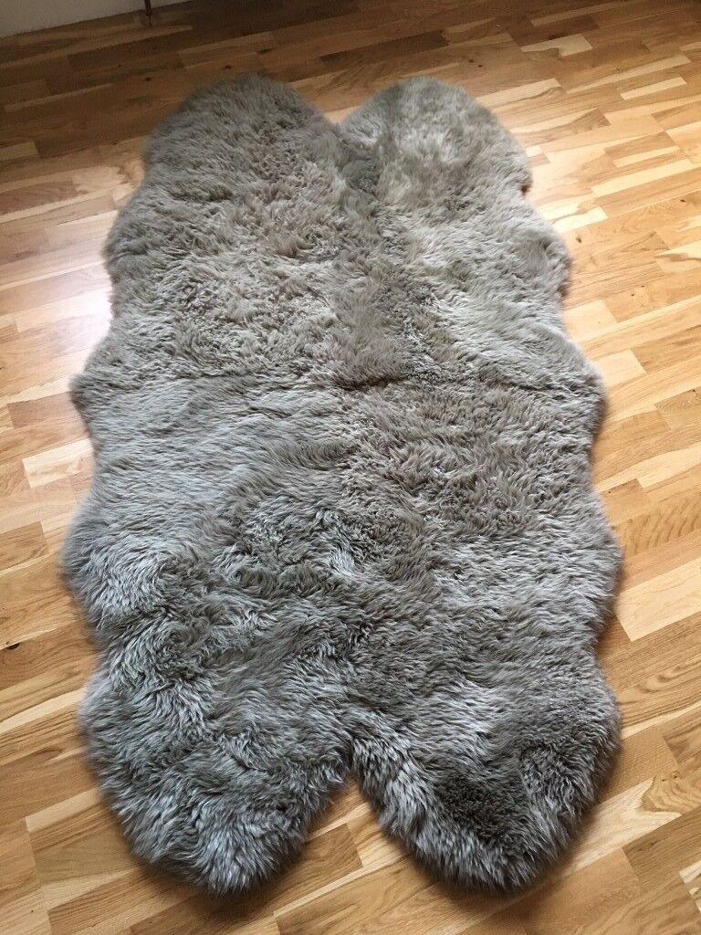 Sheepskin Rug Quad Mocha John Lewis