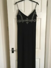 Long black evening gown