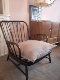 Ercol armchair webbing intact excellent vintage condition