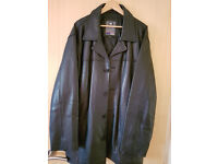 "Men's Heavy Cow Leather Jacket (Size XXL- 25.5"" chest) RRP £230"
