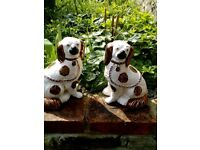 Pair of vintage Walley dogs