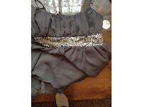 Size 8 grey top with sequence from Dorothy perkins