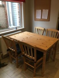 IKEA Wood Table and 4 chairs