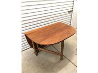FREE DELIVERY Vintage Mid Century 1960s Teak Drop Leaf Extending Dining Table Like G Plan McIntosh