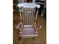 Rocking chair been painted