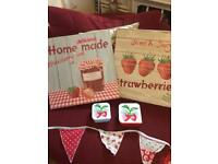 Bunting and Cath Kidston strawberry boxes