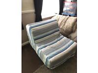 Ikea futon single chair bed