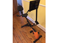 Ancheer folding recumbent exercise bike with features