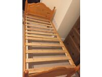 Single pine bed frame for sale