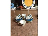 18 piece Delphine Bone China Teaset, condition used