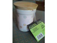 The Classic Collection Sugar ceramic caddy polka dots