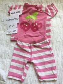 Mini Mode baby girls two piece swimsuit 3-6 months