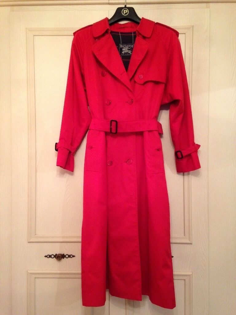 Burberry limited Ed red trench coat Mac UK 10   in Westhoughton ...