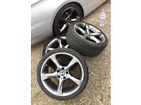 "BMW 19"" genuine 5 spoke twist staggered alloys"