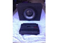 Kenwood subwoofer and amplifier