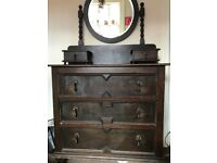 Dresser with mirror/ chest of drawers