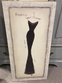 Canvas of a French dress