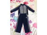Adidas navy blue tracksuit 18-24 months