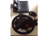 Logitech GT5 Driving Force Wheel PS3 - as NEW