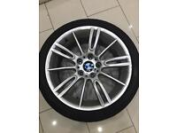 Bmw 3 series 1 series mv3 alloys good as new condition 18 inch staggered wheels tyres set of 4