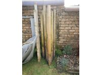 13 FENCE POSTS, GOOD CONDITION