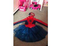 GIRLS SPIDER-MAN DRESS UP DRESS 2-3
