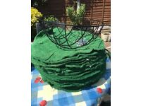5 x good quality Hanging basket liners moss effect new