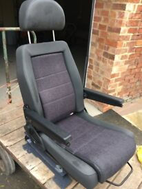 car seat fully remote fitted with extras lifts you in and out rotates as new
