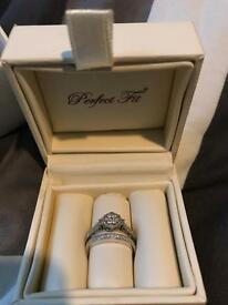 Engagement ring and wedding ring