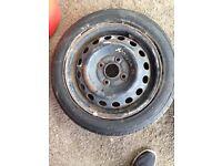 "5 15"" wheels (4 alloy + 1 steel) from Honda Jazz"