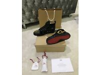 Christian Louboutin High Tops Black/Gold! Brand NEW in Box + ALL Accessories