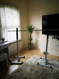 Adjustable squat stand / squat rack with spotters