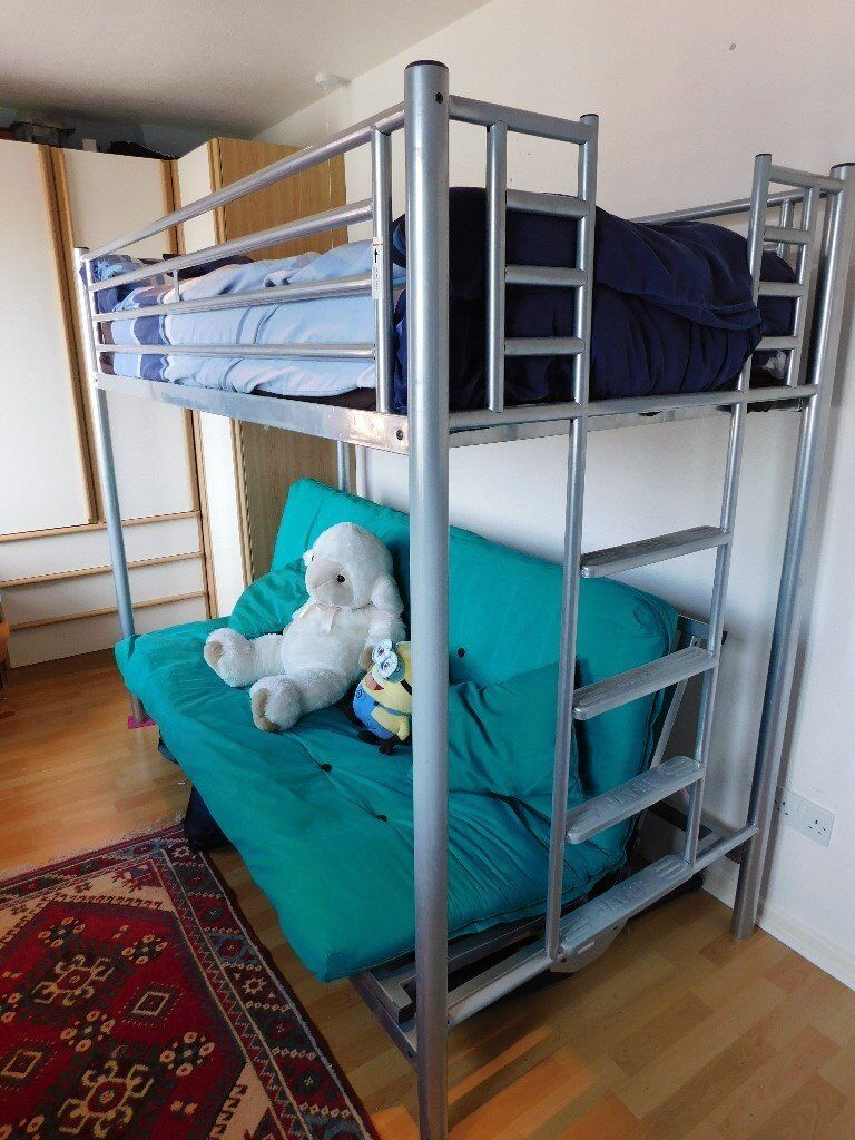 Jay Be Bunk Bed With Mattress Drop Down Sofa Converts To A Double Futon In Hinckley Leicestershire Gumtree