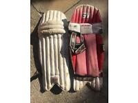 Cricket pads used