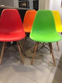 6 x Eames inspired retro chairs