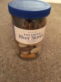Decorative pebble stones - new unused