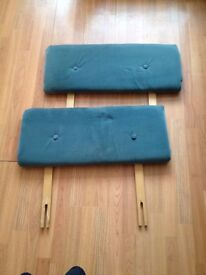 TWO AIRFORCE BLUE BRUSHED HEADBOARDS for SINGLE BEDS