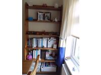 Bookcase, pine, height 186cm x width 93cm. Must collect.