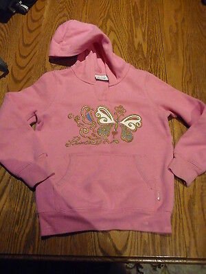 THE CHILDRENS PLACE bright pink hoodie with motif Size 5-6 yrs EUC