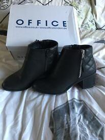 Office Black Ankle Boots