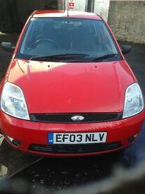 Ford Fiesta 2003 1.4 Diesel Zetec 4 door RED Cheap to run CD Alloys