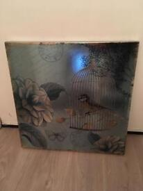 Bird in a cage canvas