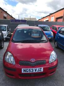 Toyota Yaris 1 liter petrol 5 doors hatchback 5 seater family car 2003 53 plate